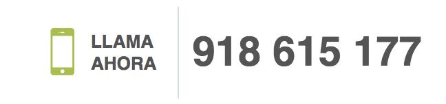 Llámanos ahora al 918 615 177